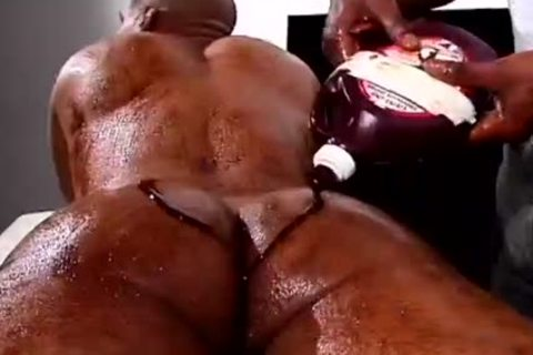 Two darksome males With Food Fetish bunch sex Hard