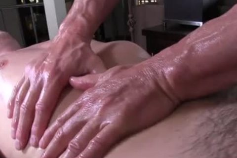 GayRoom daddy masseur rubs and probes palpitating rod youngster - painfully sex movie - Tube8.com