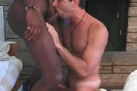 White homo taking three darksome penises and immodest sex cock juice - ebon sex video scene - Tube8.com