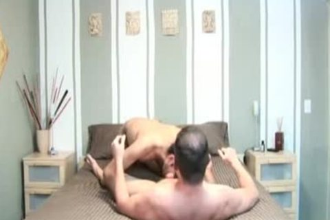 Hefty homo acquires face gap and booty nailed