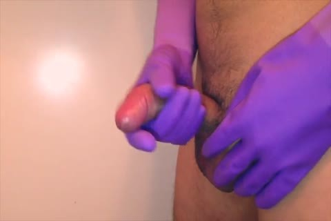 Purple Rubber Gloves