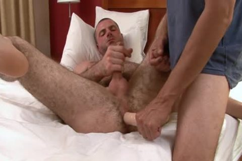 engulfing And hammering hairy guy