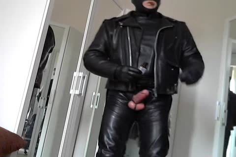 Leather Biker Rubber Poppers Masked And Plug anal Smoke Cigare