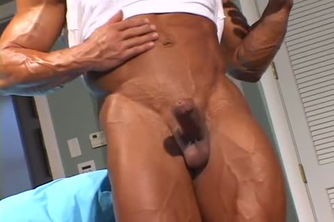 lustful pumped up chap disrobes And Jerks Off