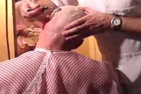 This Harder Treats His Client Well  oral sex job Shave Bald Sex Her Off II