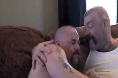 Papa Tattooed Bear And Younger Bear - Loving To painfully