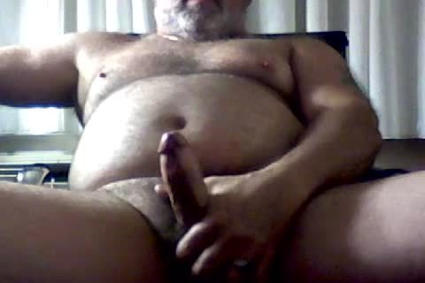 stroking In Hotel Room With Poppers And A sex toy.