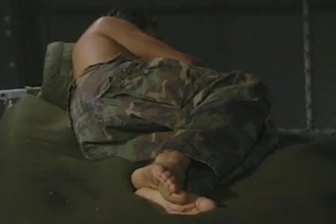 Hung Army chap Massaging His wicked Feet