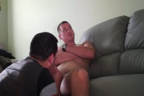 sucking Hung Construction Worker