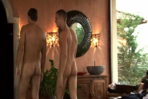 Three young homosexual guys Enjoying Sex jointly