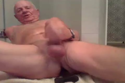 daddy chap jerk off jerk off With  A sex-vibrator In wazoo And semen