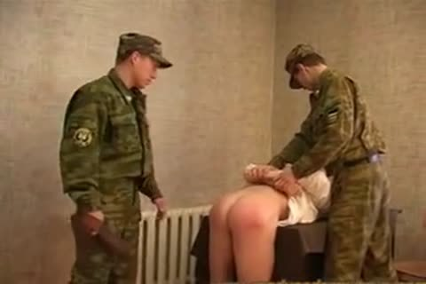 Russian Army drubbing And nailing