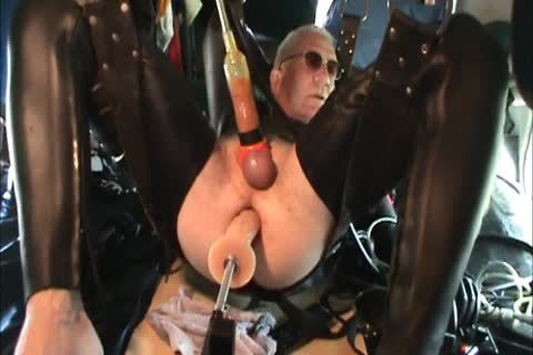 Rubber twinks Geared Machine poked