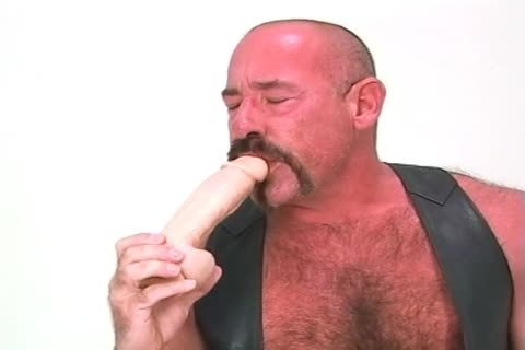 biggest daddy chap Playing With His Dildos And shoving In