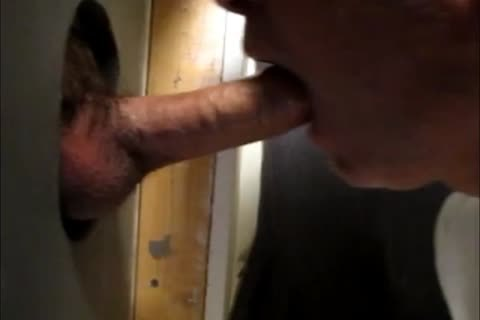 attractive engulfing Action At The Homemade Glory hole 4