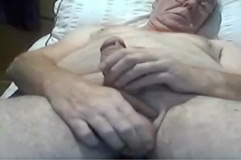 older man stroke And Play On web camera