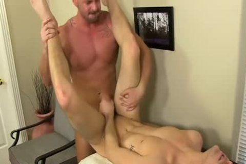 excited Boss Mitch Vaughn pounds Dustin Fitch In His chocolate gap