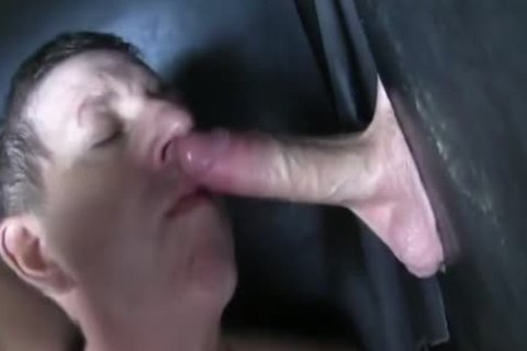 Super enormous Uncut dong str8 Aussie Max receive's Sucked Off At The Gloryhole.