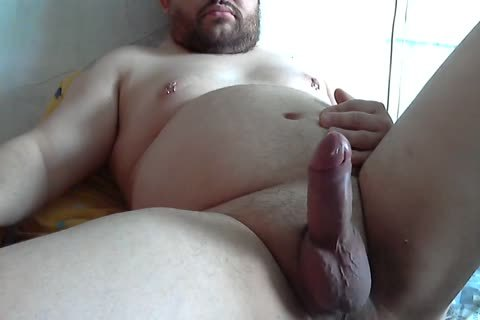 fat amateur Tugging cock