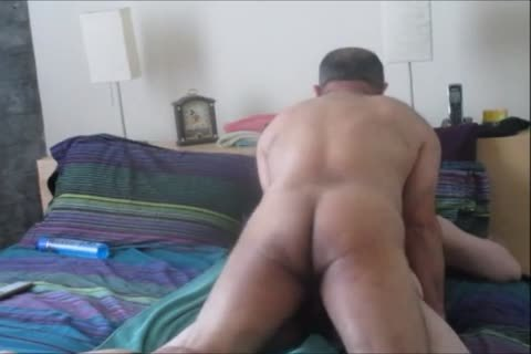 bisexual Columbian BearCock Beats Up one as well as the other My Holes.