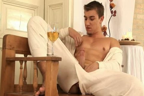 This stylish gay man Comes Home And Drinks Some Wine previous to His Has A Sensual Self Devotion Session