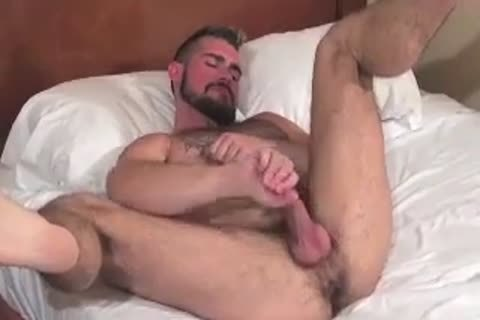 enormous Bear Daddy Breeds stunning butt group sex stunning hole In Some admirable Barebacking Session