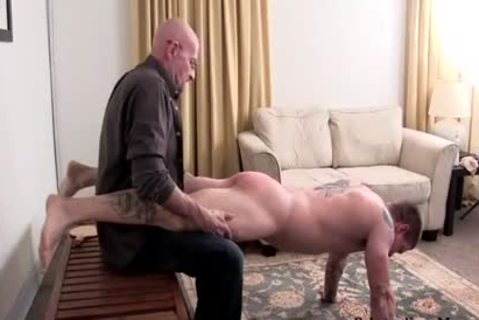 Muscle non-professional drubbing With cock juice flow