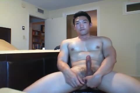 powerful asian lad Beats His meat