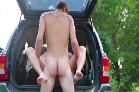 naughty bushy Blond fucked Outdoor By Hung young M
