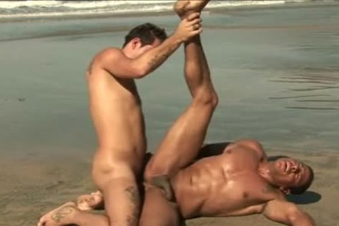 The homosexual men Go Out To The Beach And hammer Eachother At The Waterside