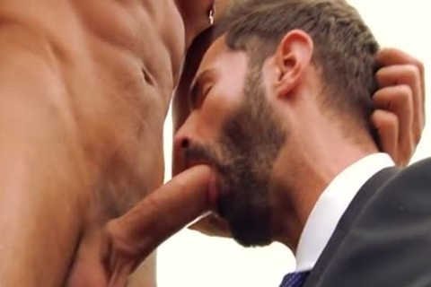 large rod homo irrumation And Facial