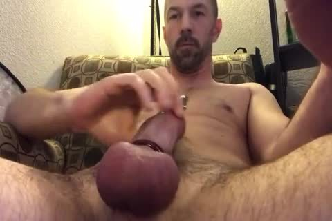 good Closeup Of Me Playing With My Pierced cock