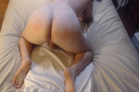 thrashing Bubble butt With wazoo-ramming Jacking Off cum On Chest