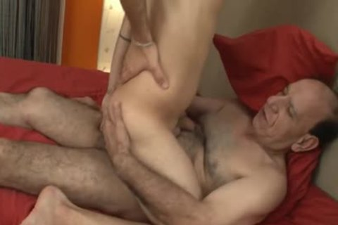 hairy Grampa bare pokes twink