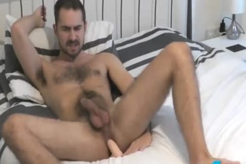 Flirt4Free Antonio West - Bearded Hunk bonks His ass And Cums On hairy Abs