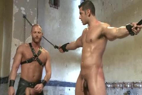 Muscle homosexual tied And Facial love juice