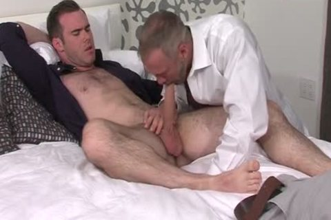 Silver Fox Dallas Steele And Clean Cut cock Matthew Bosch sex goo together