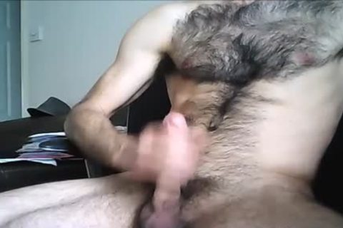 hairy Hung fellow discharges A enormous Load