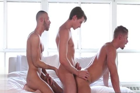 monstrous dick homosexual trio With Facial