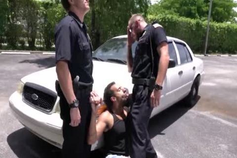 Criminal Perp And Two lustful Cops