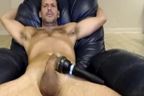 Hunk Vibrating His dick On cam