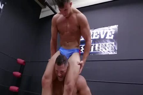Daddy And Son Wrestling! Daddy Is So yummy In Minimal Speddo, not quite A thong