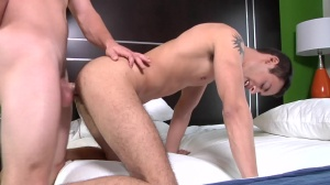 The Virgin - Jimmy Johnson with Landon Stone anal plow