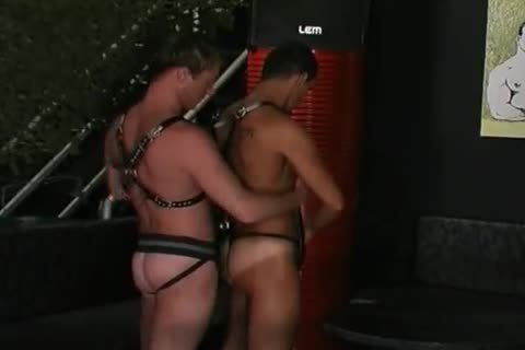 three-some In Leather
