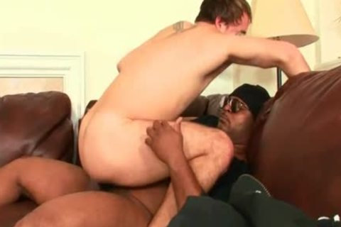 Experienced daddy man bonks With black man