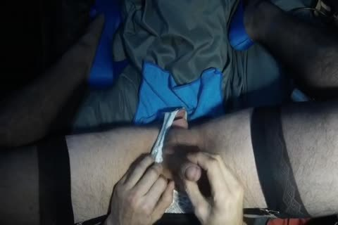 Crossdresser Having joy In A Hotel With sex tool And Shoe fuck