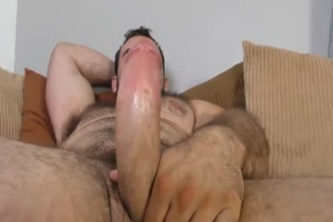 Jaxton Wheeler stroking Is hairy cock