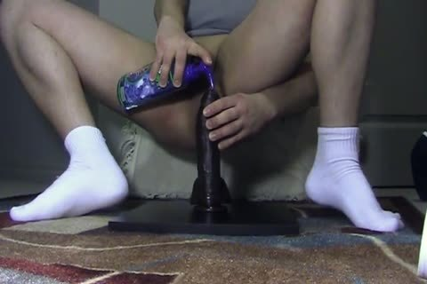 A large dildo In His anal For joy