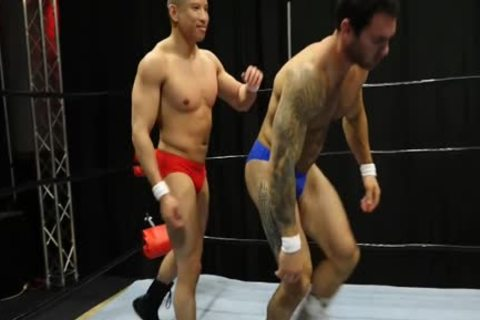 White Muscle chap  acquires Owned By cocky , Smaller,  better Fighring  young asian