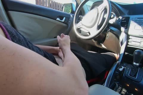 lad Watches Other lad wank His dick In The Car while In Public